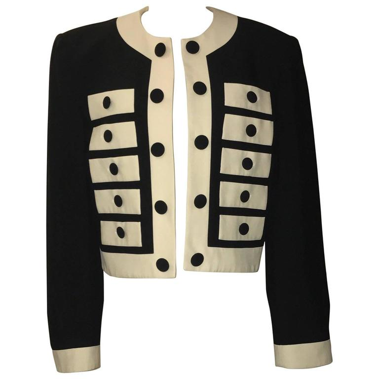 Moschino Couture Black and White Drawer Jacket Blazer, 1990s