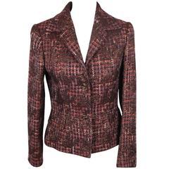 Authentic DOLCE & GABBANA Metallic Bouclé BLAZER Jacket SIZE 42