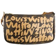 Louis Vuitton Stephen Sprouse Monogram Canvas Grafitti Pochette Bag