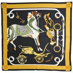 Hermes silk twill 90cm scarf - tout en Carre