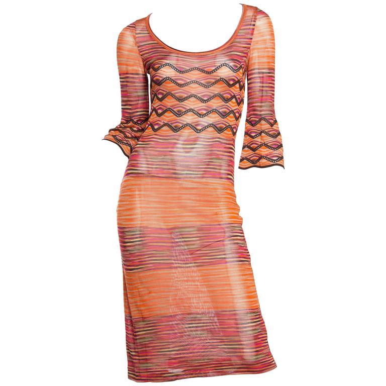 Silky Missoni Knit Dress