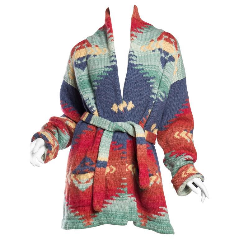 Ralph Lauren Hand Knit Navajo Blanket Inspired Sweater at ...