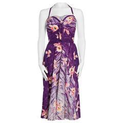 1940s 1950s Tropical Hawaiian Swing Dress