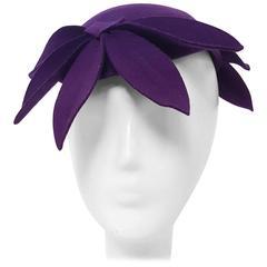 30s Purple Petal Fashion Hat