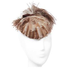 30s Feathered Fashion Hat