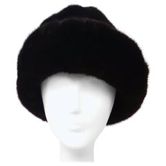 60s Espresso Brown Mink Hat