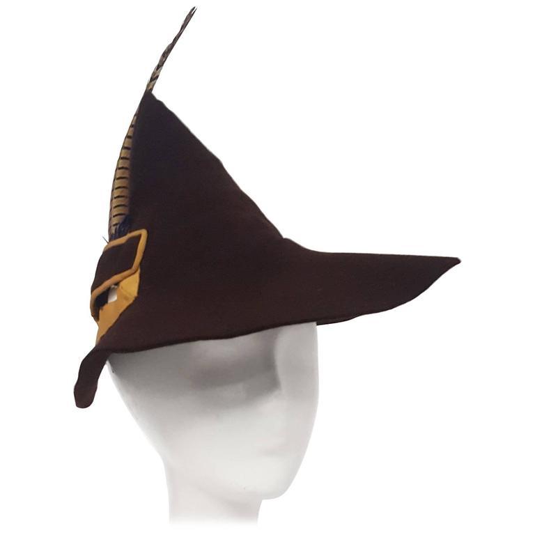 30s Brown Fashion Pheasant Feather Robin Hood Hat at 1stdibs 24616a33b28