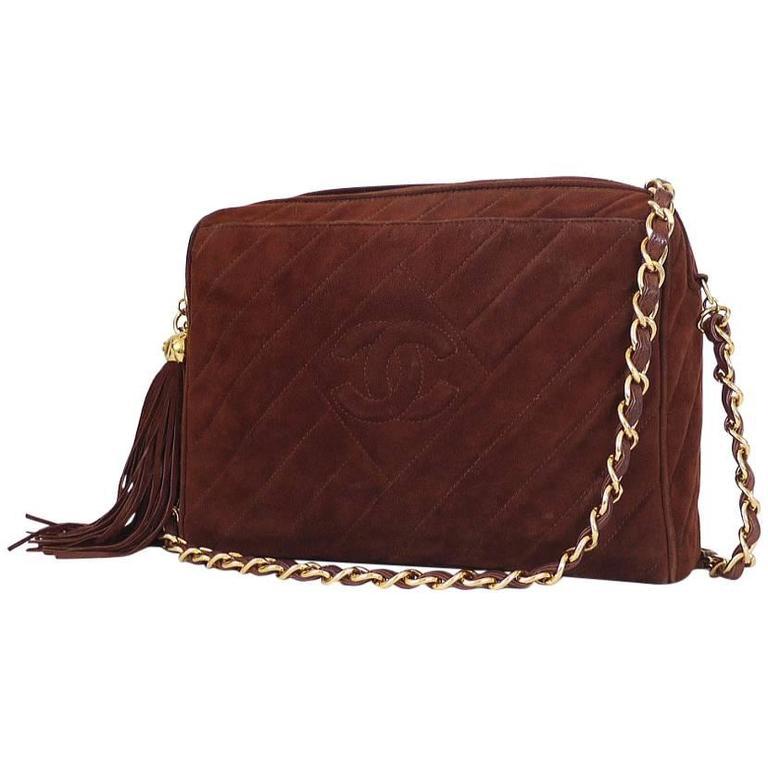 Vintage Chanel Cross Body Tassel Shoulder Bag