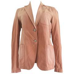 Fendi FF Logo Pink Cotton Jacket
