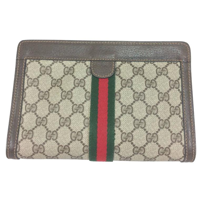 Vintage Gucci Accessories Collection Cosmetics Clutch Bag 1970s For