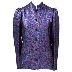 Yves Saint Laurent Haute Couture Lame Blouse