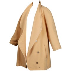 Claude Montana Vintage Oversized Boxy Wool and Cashmere Coat, 1980s
