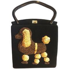 Rare Jolles Paris France Poodle Handbag 1950s