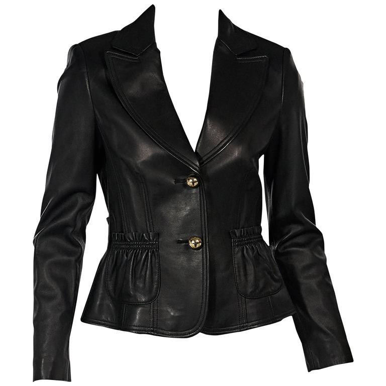 Feraud leather jacket