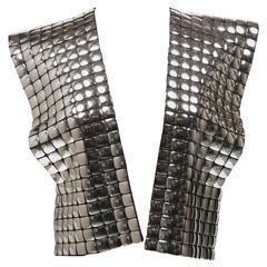 1990 Krizia  Amazing  Silver Sleeveless  Jacket