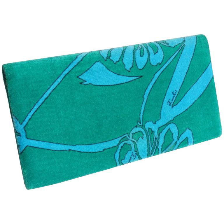 1960s Emilio Pucci Velour Wallet