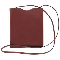 Hermes Sling Crossbody Carmine Red Colored Messenger Bag