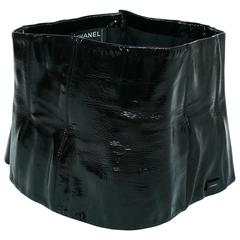 Chanel Black Patent Leather Corset Belt Fall/Winter 2001 Size 36