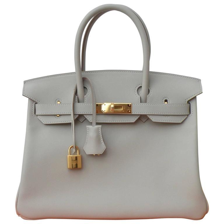 Hermes Birkin Bag 30cm Gris Perle Gold Hardware 1