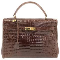 Late 20th Century Revillon Alligator Skin Handbag