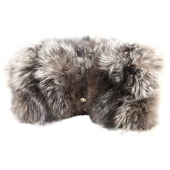 Large  Big Silver Fox Hands  Muff / Gloves