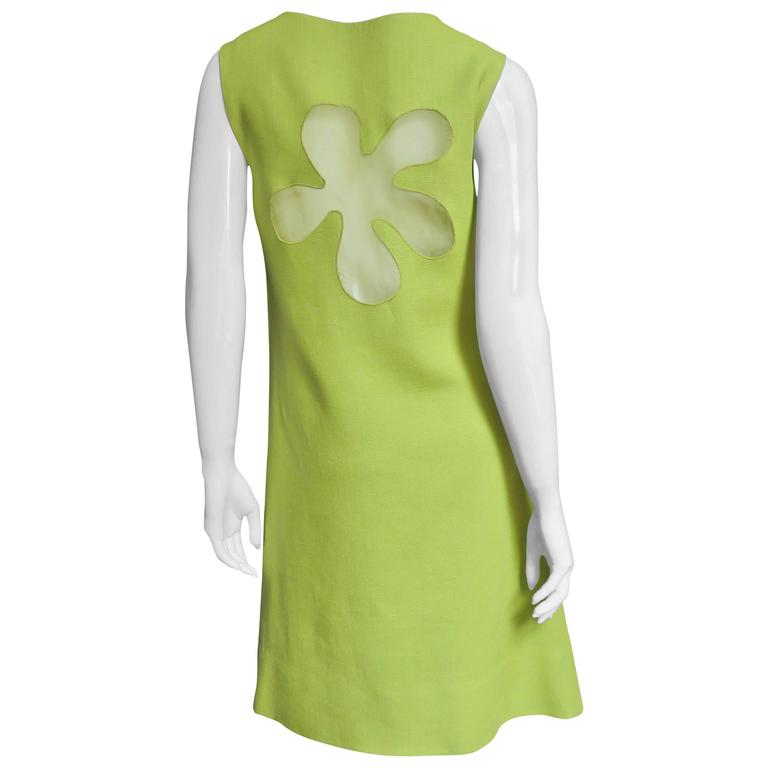 1960's B. H. Wragge Mod Flower Cutout Dress For Sale