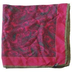 Yves Saint Laurent multicolour silk handkerchief