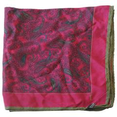 Yves Saint Laurent multicolour silk handkerchief