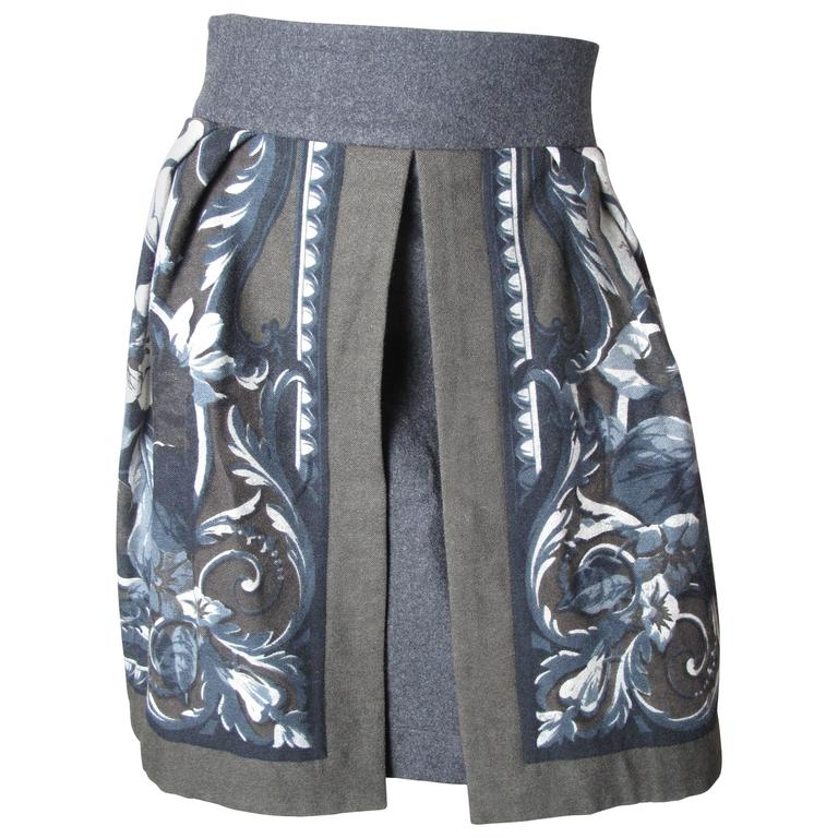 Byblos Printed Skirt with Opening in Front For Sale