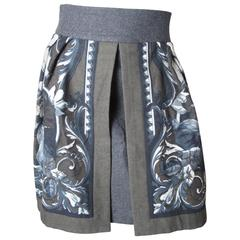 Byblos Printed Skirt with Opening in Front