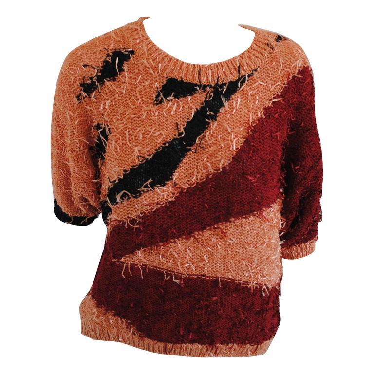 1980s Orange Red Black Vintage Shirt