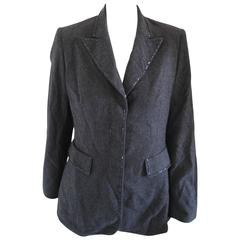 Iceberg Grey Wool with beads Jacket