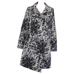 Desigual Black White Cotton Coat