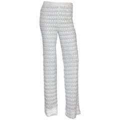 Beautiful Pure White Missoni Crochet Knit Pants