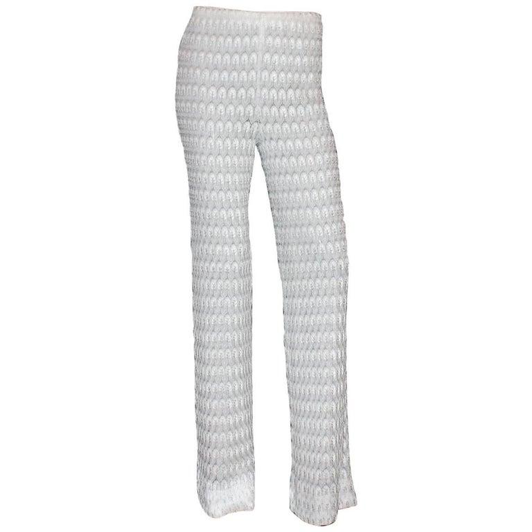 Beautiful Pure White Missoni Crochet Knit Pants