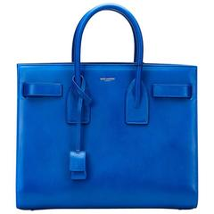 2016 Saint Laurent Royal Blue Calfskin Classic Small Sac De Jour