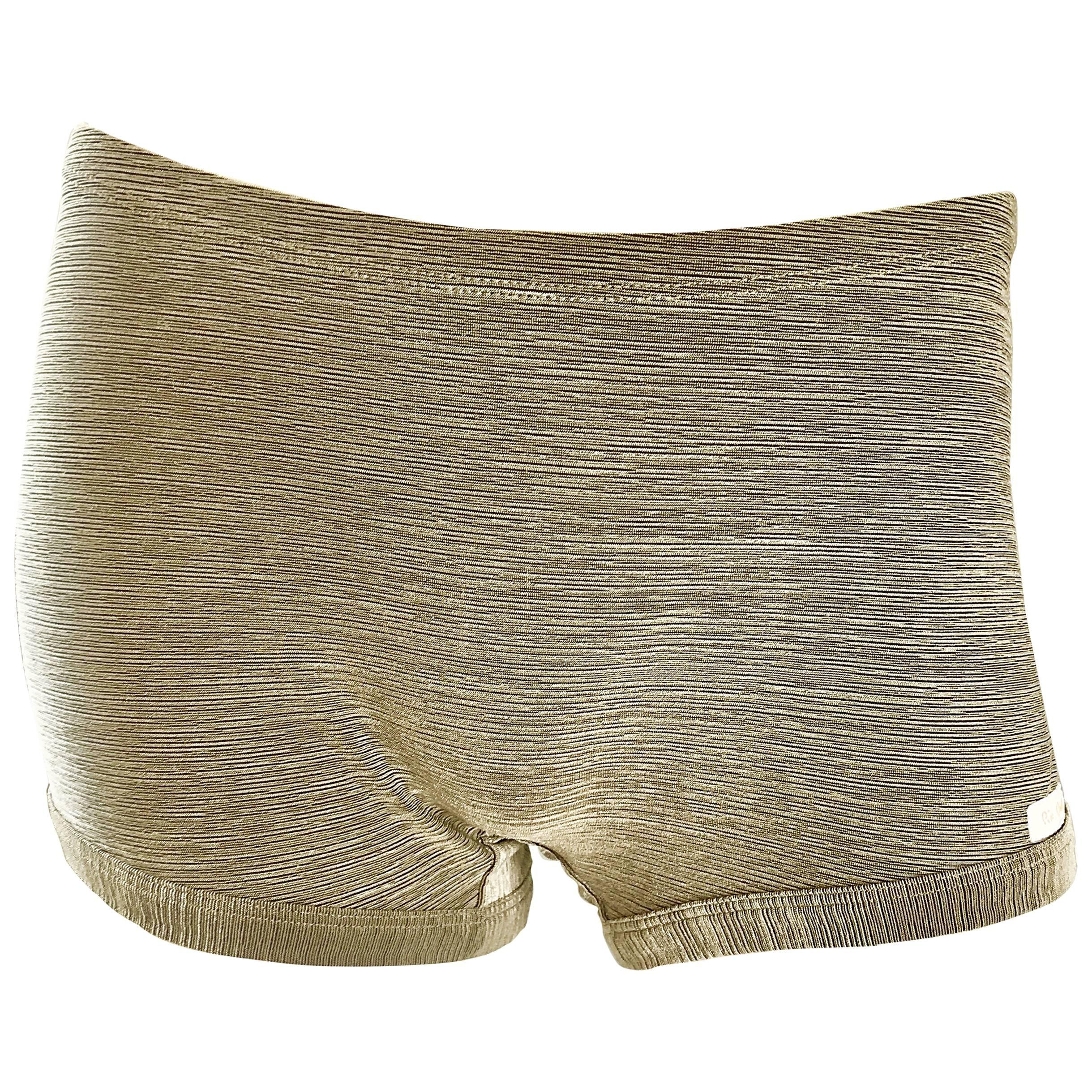 66b9c468d5 Vintage Pierre Cardin 1970s Gold Metallic Sexy 70s Disco Hot Pants / Shorts  For Sale at 1stdibs