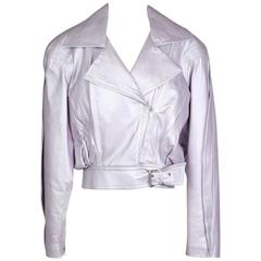 Thierry Mugler Leather Motorcycle Jacket circa 1980s