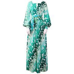 BALENCIAGA Vintage 70's Boho Spring / Summer Cotton Dress