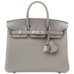 Brand New Birkin 25 Gris Mouette Togo PHW