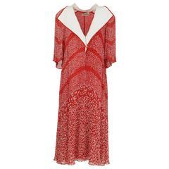 1970S Renato Balestra Red and White Dress