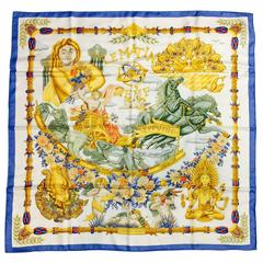 Hermes Le Matin Neuf Silk Twill Scarf by Joachim Metz