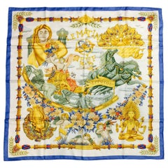 Hermes Le Matin Neuf Silk Twill Scarf by Joachim Metz