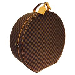 Louis Vuitton Boite Chapeaux Damier Ebene 50 Travel Round Case