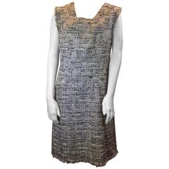 Chanel Grey Tweed Dress with Pockets