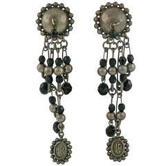 Jean Paul Gaultier Vintage Safety Pin Dangling Earrings