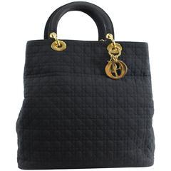 Vintage Nylon Lady Dior Tote Bag