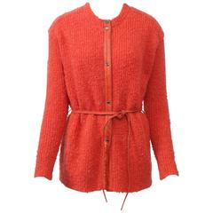 Bonnie Cashin Orange Cardigan