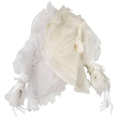 Maison Martin Margiela Artisanal White Tulle Ruffle Jacket