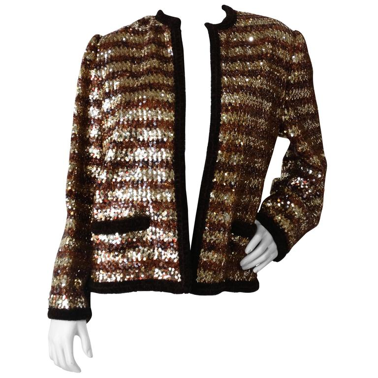1980s Givenchy Sequin Stripe Jacket